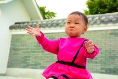 Geschaade schreeuw (Aziatisch meisje) Royalty-vrije Stock Fotografie