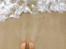 Geschaukelt durch die Wellen stockbilder