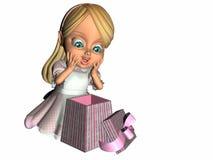 Geschenk-Überraschung Stockbild