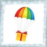 Geschenk auf Fallschirmikone Lizenzfreies Stockbild