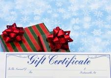 Geschenk-Bescheinigung für Weihnachten Lizenzfreie Stockbilder