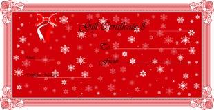 Geschenk-Bescheinigung (Vektor) Lizenzfreie Stockfotografie