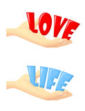 Geschenk der Liebe und des Lebens Stockbild