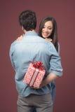 Geschenk des Valentinsgrußes Stockfoto