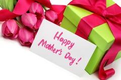 Geschenk für den Tag der Mutter Lizenzfreies Stockbild