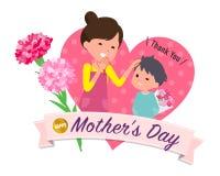 Geschenk für geliebtes ones_son geben der Mutter lizenzfreie abbildung