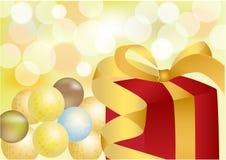 Geschenk für neues Jahr, Weihnachten, Feier Lizenzfreie Stockbilder