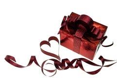 Geschenk für Valentinsgrußtag und -herz Lizenzfreie Stockfotografie