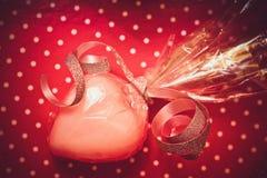 Geschenk für Valentinstag Lizenzfreies Stockfoto