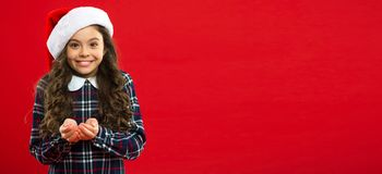 Geschenk für Weihnachten kindheit Partei des neuen Jahres Santa Claus-Kind Weihnachtseinkaufen, Idee für Ihre Auslegung Glücklich lizenzfreies stockfoto