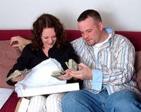 Geschenk-Geld stockfotos