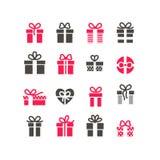 Geschenk-Ikonen Lizenzfreies Stockbild