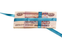 Geschenk im Geld Lizenzfreies Stockbild