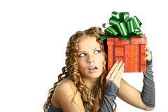 Geschenk im Kasten Stockbild