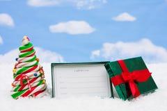 Geschenk-Karte Stockbilder