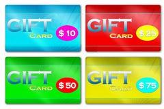 Geschenk-Karten Stockfoto