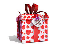 Geschenk-Kasten des Valentinsgrußes Lizenzfreie Abbildung