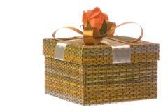 Geschenk-Kasten getrennt Lizenzfreie Stockfotografie