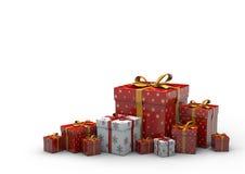 Geschenk-Kasten lokalisiert Lizenzfreie Stockfotos