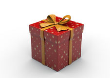 Geschenk-Kasten lokalisiert Lizenzfreie Stockfotografie