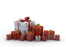 Geschenk-Kasten lokalisiert Lizenzfreies Stockfoto