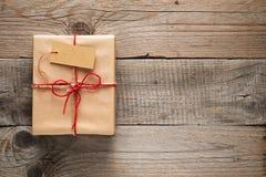 Geschenk-Kasten mit Marke Lizenzfreie Stockfotos