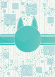 Geschenk-Katze-Karte stock abbildung