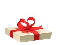 Geschenk lokalisiert auf Weiß stockfotografie