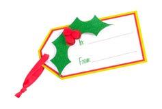 Geschenk-Marke - Ausschnitts-Pfad lizenzfreies stockbild