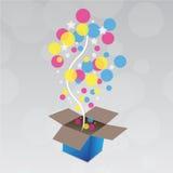 Geschenk mit Überraschung vektor abbildung