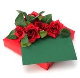 Geschenk mit Blumendekor Stockfotografie