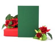 Geschenk mit Blumendekor Stockbild