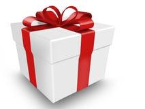 Geschenk mit Farbband und Bogen Stockfotografie