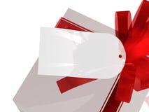 Geschenk mit Geschenkmarke Stockbilder