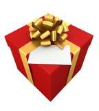Geschenk mit Karte. Lizenzfreies Stockfoto