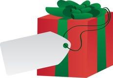 Geschenk mit Kennsatz Lizenzfreies Stockfoto