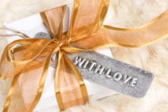 Geschenk mit Liebe Stockfoto