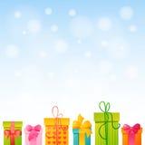 Geschenk mit Raum für Text Stockbild