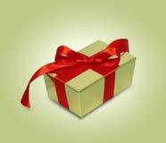 Geschenk mit rotem Farbband Stockbilder