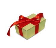 Geschenk mit rotem Farbband Lizenzfreies Stockfoto