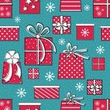 Geschenk-nahtloses Muster Stockbild