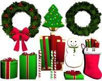 Geschenk-neues Jahr auf einem weißen Hintergrund Lizenzfreie Stockbilder