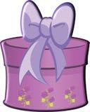 Geschenk-Purpur mit Bogen Stockfoto