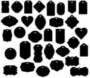 Geschenk-Tag formt lokalisierten dekorativen Aufkleber des Gepäckanhängers des Vektors Clipart stockfoto