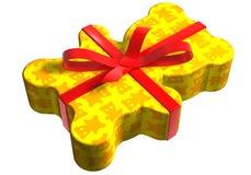 Geschenk teddy gelb Royalty Free Stock Photography