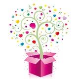 Geschenk und Inneres Stockfotografie