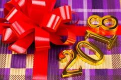 Geschenk und Tabellen 2018 Stockfotografie