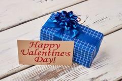 Geschenk an Valentinsgruß ` s Tag Stockbilder