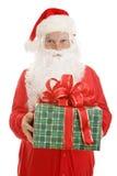 Geschenk von Weihnachtsmann stockbild