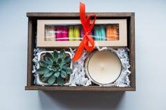Geschenk, weiblicher Geschenksatz stockfoto
